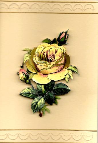 Ecstacy Foil Flower Card