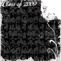 12 x 12 Hats Off-Foiled Class Of 2009