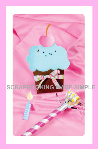 X-Large Bigz-Card & Pocket, Cupcake