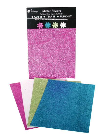 Glittered Sheets-Brites-Fusch-Teal-Chart-White