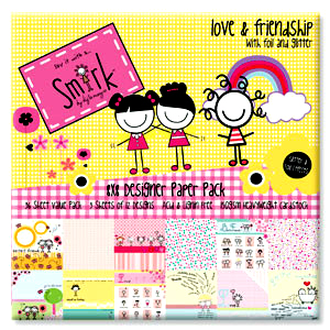 Smirk-Love and Friendship 12 x 12 Pack-B