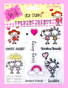Smirk-Love and Friendship Stamps-Framed