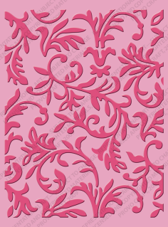 37-1916-Victoria Cuttlebug A2 Embossing Folder