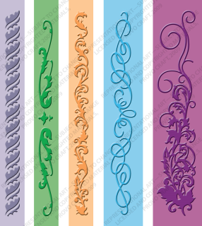 37-1922 -Organic Flourish Border Set