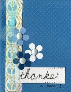 Dotted Swiss-Thanks Card