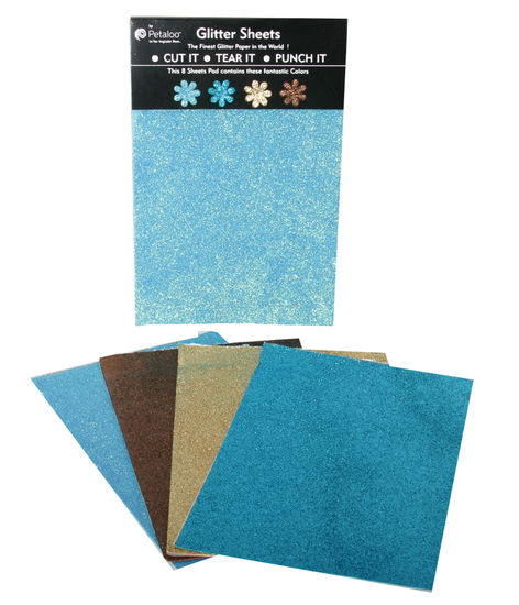 Glittered Sheets-Brites-Aqua-Teal-Tan-Brown