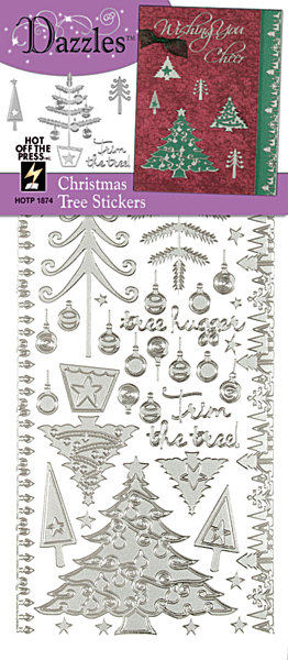 Stickers-Dazzlers-Christmas Trees-Silver