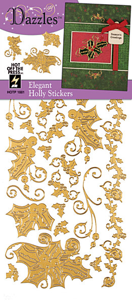 Stickers-Dazzlers-Holly-Gold