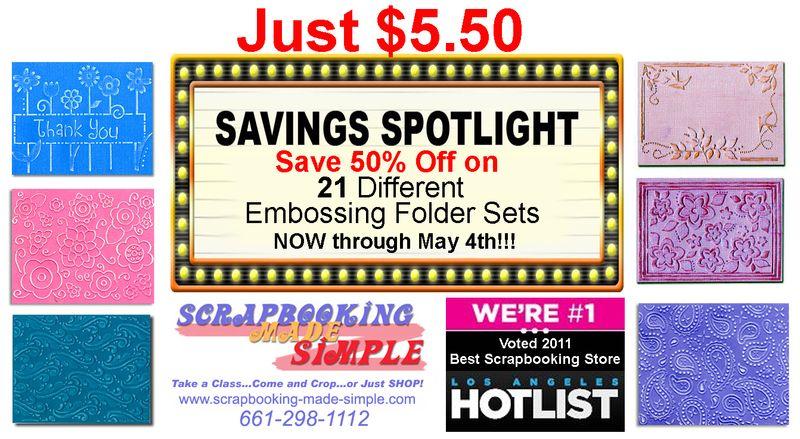 Savings Spotlight-Sizzix April 26th