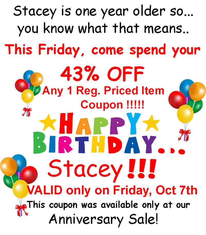 Staceys Birthday Coupon 2