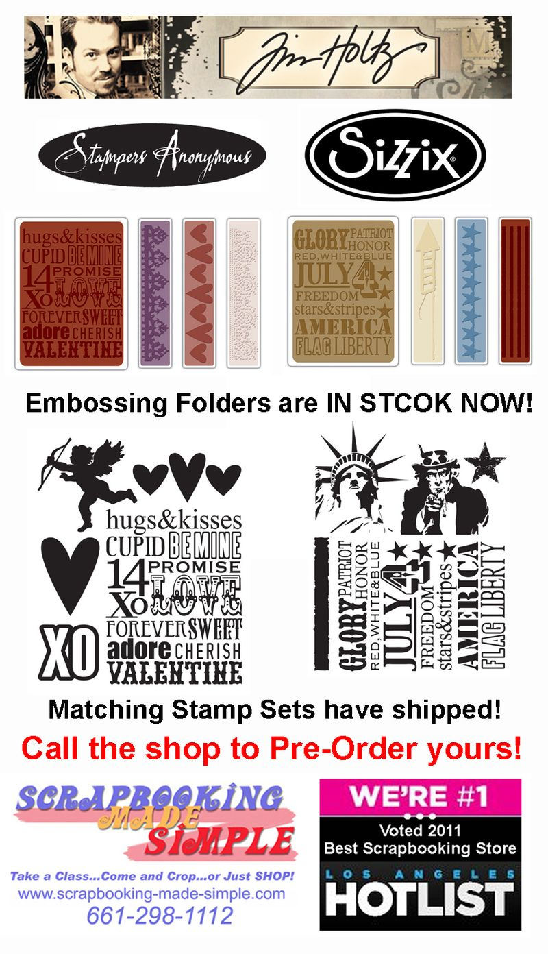 2012-Jan Embossing Folder & Stamps
